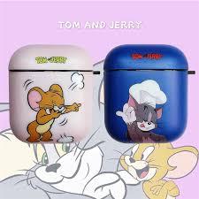 Cute Soft <b>Silicone Earphone Protection</b> Cover Cartoon Tom Cat ...
