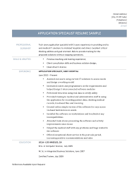 resume of application specialist cipanewsletter application specialist resume online resume builders
