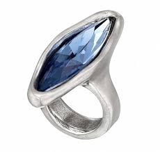 Купить <b>Кольцо</b> «Right now» Синий ручной работы в бутиках ...