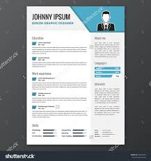 cv resume template vector graphic layout stock vector  cv resume template vector graphic layout for unemployed or for lancers blue
