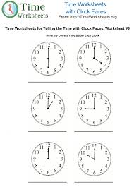 Time Math Worksheets with Clock Faces #9 | Time Worksheets OrgTo print this Time Math Worksheet. Please Click Here <<