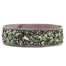 Crystal Stone Bracelets Unisex Bracelets Cowhide Bracelets Wrist ...