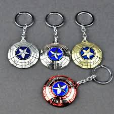 <b>Captain</b> America <b>shield</b> metal <b>key chain keyring</b> ornmanet pendant ...