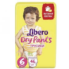 <b>Трусики Libero Dry</b> Pants (6) XL 13-20 кг (46 шт.) - IRMAG.RU