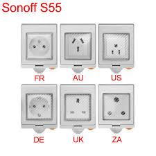 <b>Sonoff S55 Wifi Smart</b> Outdoor Waterproof Wireless Socket Smart ...