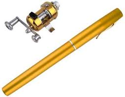Auf Aluminum Alloy <b>Mini Portable Pocket</b> Pen Shape Fishing Rod ...