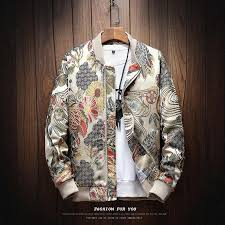 <b>2018 Autumn New</b> Japanese Embroidery Men Jacket Coat Man Hip ...