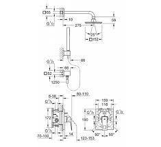 <b>Душевая система Grohe Eurocube</b> 23409000 со смесителем хром ...
