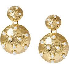 <b>Lisa Smith Золотистые</b> серьги-полусферы с жемчугом - Glami.ru