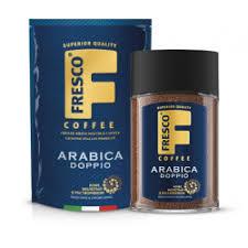 <b>Кофе</b> растворимый с добавлением <b>молотого Fresco</b> doppio <b>arabica</b>