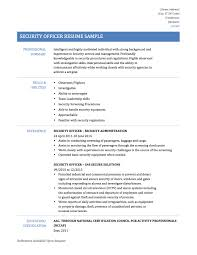security guard resume samples templates tips great security guard resumes for security officers and cyber security professionals