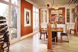 ideas burnt orange: burnt orange wall paint dining room contemporary with aqua creations aqua lighting
