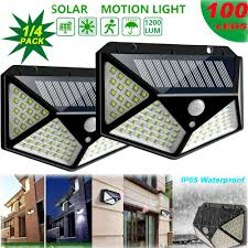 Waterproof <b>100 LED Solar</b> Power PIR Motion Sensor Wall Lights ...