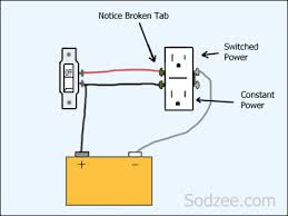3 way switched outlet wiring diagram images outlet 3 way switches split circuit outlet where switch controls half of