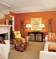 furniture living room wall: tangerine orange living room with white furniture love the use of color