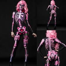 Women Halloween Cosplay Costumes <b>Skull</b> Skeleton 3d Digital ...