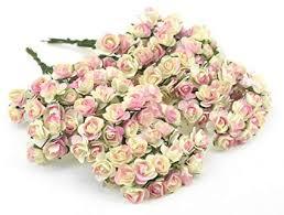 FiveSeasonStuff <b>144 Pcs Mini Artificial</b> Paper Rose Flowers ...