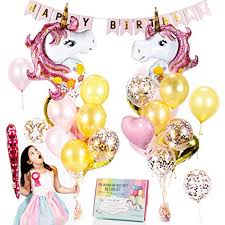 Amazon.com: <b>Unicorn Balloons</b> Set - <b>Pink</b> & Rose <b>Gold Unicorn</b> ...