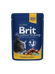 <b>Brit Premium</b> Cat Pouches with Chicken & <b>Turkey</b> – Brit