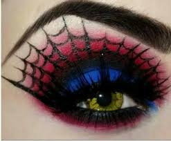 cool spider web eye makeup for or costume parties