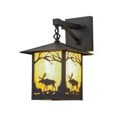 Meyda <b>Tiffany</b> Greenbriar Oak 1-Light Outdoor Wall Lantern ...