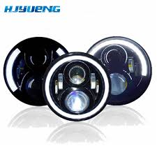 <b>7 inch</b> LED Headlight Car Angel Eyes <b>DRL Daytime Running Lights</b> ...