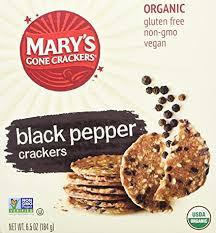 Mary's <b>Black Pepper Crackers</b> Gluten Free (<b>6.5</b> OZ): Amazon.com ...