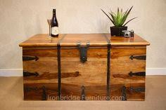 EXTRA LARGE <b>SOLID WOOD</b> TRUNK CHEST STORAGE BOX IN ...