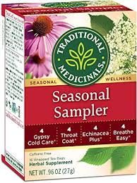 Traditional Medicinals <b>Seasonal Tea</b> Sampler <b>Variety</b> Pack, 16 <b>Tea</b> ...