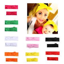 2 Pcs/Pair Kid Girls Mom And Me Daughter <b>Headbands</b> Solid <b>Color</b> ...