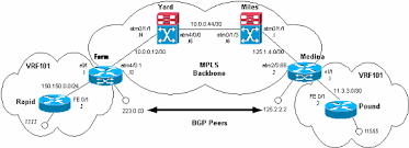 packet flow in an mpls vpn environment   ciscompls packflow   gif