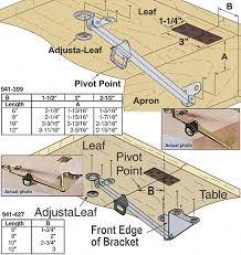 dining table leaf hardware: dining room table leaf hardware best