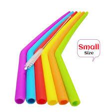 <b>6Pcs Dia 7mm Reusable</b> Silicone Straws Food Grade Silicone ...