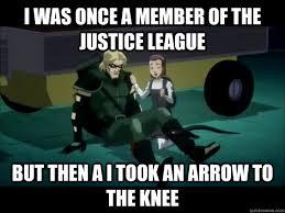 Green Arrow To The Knee memes | quickmeme via Relatably.com
