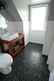 Hexagon Tile Floor Patterns Small Bath Remodel Part Dos Paint Bathroom Tile Flooring And
