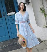 Summer Knee Length Linen Dress Canada | Best Selling Summer ...