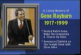 Image result for match game with host gene rayburn