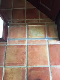 Terra Cotta Tile In Kitchen Cracked Mexican Terracotta Kitchen Tiles Restored In Ormskirk
