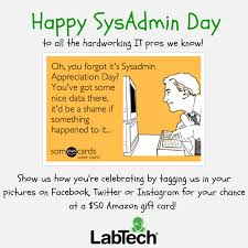 We're giving out $50 Amazon gift cards to celebrate Sysadmin Day ... via Relatably.com