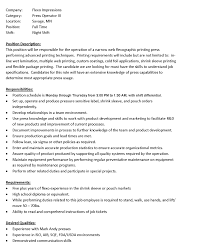 shift manager job description press operator iii night shift cover cover letter shift manager job description press operator iii night shiftowner operator job description