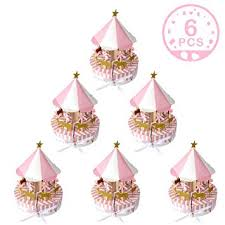 Wmbetter <b>6 Pcs</b> Carousel Party Supplies <b>Baby Shower Favors</b> ...