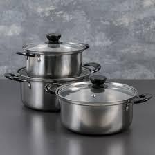 <b>Набор</b> посуды, <b>3 предмета</b>: <b>кастрюли</b> 16/18/20 см со ...