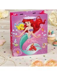 """<b>Пакет подарочный</b> """"C днем рожденья!"""" <b>Принцесса</b>: Ариэль 31*40 ..."""