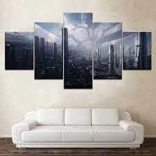 Citadel Mass Effect 5 piece Wallpapers modern <b>Modular Poster wall</b> ...