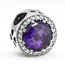 <b>Ckk</b> fits pandora bracelet purple radiant <b>hearts</b> beads jewelry ...