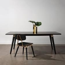 The Scholar dining table and chair is <b>clean</b> and <b>classic with</b> refined ...