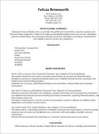 professional personal banker resume templates to showcase your resume templates personal banker resume