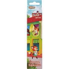 Купить недорогие <b>карандаши цветные 1 School</b> Лисята 6 цветов ...