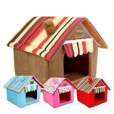 Cute <b>Striped Removable</b> Cover Mat <b>Dog House Dog</b> Beds for Small ...