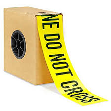 "Barricade Tape - 3"" x 1,000', ""<b>Police Line Do Not</b> Cross"" S-22041 ..."